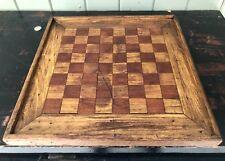 "Antique Folk Art Game Board ""BLACK WALNUT/WHITE OAK"""