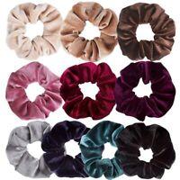 10 Pack Hair Elastics Scrunchies Velvet Scrunchy Bobbles Soft Elegant ElastO2G1