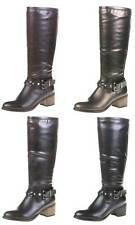 Damenschuhe im Wadenhohe Stiefel-Stil mit Kunstleder und Reißverschluss für Hoher Absatz (5-8 cm)