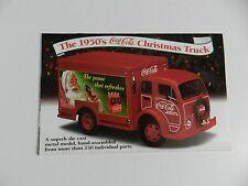 Danbury Mint 1950's COCA COLA CHRISTMAS TRUCK Brochure Pamphlet Mailer