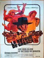 Plakat Kino Original Western Le Retour De Sabata Lee Van Cleef 120 X 160 CM