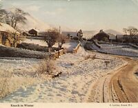 Vintage Ireland Postcard, Knock Village in Winter, County Mayo, Eire JH7