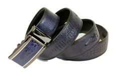 Mooniva Crocodile Alligator Top Grain Leather Ratchet Belt  - BP006CROC-BLUE