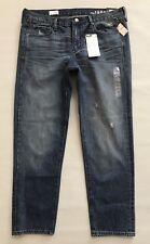 GAP 1969 Sexy Boyfriend Jeans Size 31 12 R Flap Pocket Crystal Cotton Denim NEW