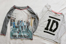 NEXT one direction bundle 2 long sleeved tops grey sequins size 7-8 years