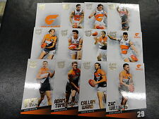 2017 AFL SELECT CERTIFIED TEAM SET OF 12 CARDS GWS
