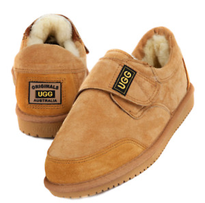 Originals Ugg Australia Sheepskin Slipper 7 8 9 10 11 12 Men Adjustable Fit Tab