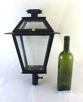 Old Post Wrought Iron Lantern Lamp Chandelier Artisan CH4