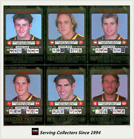 2001 Teamcoach Trading Cards Silver Regular Team set Hawthorn (6 )