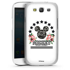 Samsung Galaxy S3 Neo Handyhülle Case Hülle - Mickey Mouse - College Flowers