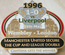 MANCHESTER UNITED v LIVERPOOL Victory Pins 1996 FA CUP Badge Danbury Mint