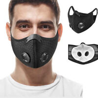 5 x Washable Half Face Cover Activated Carbon Filter Nose Mouth Cover Dustproof