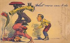 1909 Comic Postcard Man Standing On Head Balancing Rug & Lamp What More Can I Do
