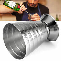 75ml Stainless Steel Measure Cup Jigger Shot Drink Spirit Mixed Cocktail Beaker