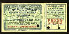 1927 Army v Navy Football Full Ticket Ex 16915