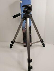 "Vanguard PT-168 Camera Aluminum Tripod Video Photography Adjustable Legs 49"""
