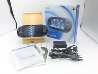 Sony PS Vita Black PCH-1000 Playstation Wi-Fi w/ Charger + Box Used [Excellent]