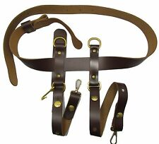 Belt Civil War Western Gun Belt With Sword Hangers Brown No Buckle R1644-1645