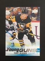 Teddy Blueger 2019-20 UD Hockey Young Guns #231  Pittsburgh Penguins RC
