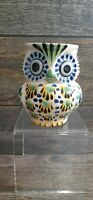 GTO Mexico Mexican Art Pottery Owl Coffee Mug Cup Hand Painted Artist Retro