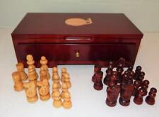 "Beautiful Wood CHESS SET in Folding Decorator Storage Box- 2 1/4"" King- Complete"