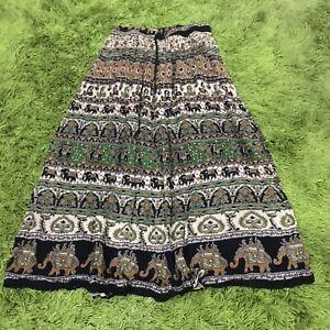 Boho Maxi Peasant Skirt Size 8 -12 Fun Fashion