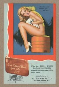 Wilkes-Barre, PA A. Rifkin & Co Advertising, Earl Moran, Pin-up, 1940s Postcard