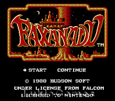 Faxanadu - NES Nintendo Rpg Adventure Game