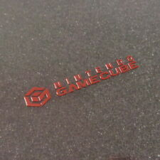 GameCube Red Metallic Label / Aufkleber / Sticker / Badge / Logo [163b]