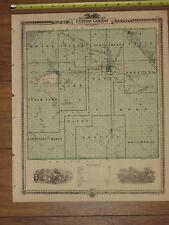 1875 Atlas - Cerro Gordo County, Iowa Map ORIGINAL - Mason City Clear Lake Boone