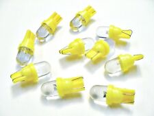 10x GM Yellow/Amber Wedge Dome LED Dashboard Instrument Panel Indicator Lights