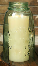 Vintage Replica Rustic Mason Jar Cloche 1/2 Gallon Tea Light Pillar Taper Holder