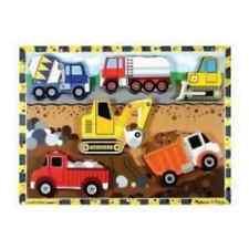 MELISSA & DOUG CONSTRUCTION CHUNKY PIECE  PUZZLE #3726