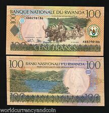 RWANDA 100 FRANCS P29A 1-5-2003 X 10 Pcs MOUNTAIN COW UNC MONEY ANIMAL TONE NOTE