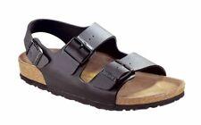 Birkenstock Sandale mit Fersenriemen Milano Schwarz Birko-Flor Schmal Unisex