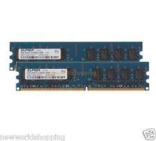 Elpida 4GB 2X 2GB PC2-6400 DDR2 800MHz 240PIN DIMM Desktop RAM Memory PC6400 CL6