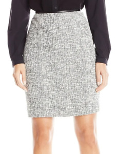 Calvin Klein Petite Size Boucle Straight Skirt MSRP $89 Size 12P # 5C 1415 NEW