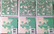 "A)lot 6 Cartes ""Papillon Vert"" BIRI Publications - Neuf avec enveloppe -"