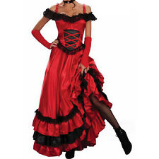 Trendy Lady Flamenco Dance Dress Stage Spanish Gypsy Style Role-playing Costume