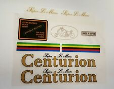 Sticker Decal Set for Vintage Centurion Super Le Mans Bicycle 9 piece set