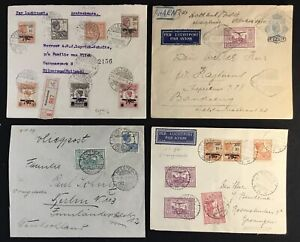 DUTCH INDIES - NED INDIE -1929/1930 -- 4 x -AIRMAIL COVER . - F/VF-- @10