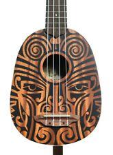 LUNA Guitars Tribal Pineapple Ukulele Satin Natural