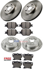 FOR TOYOTA CELICA 1.8 VVTi T SPORT 190 99-06 FRONT & REAR BRAKE DISCS & PADS SET