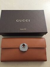 NWT Gucci Women's Leather Wallet Brown Italy