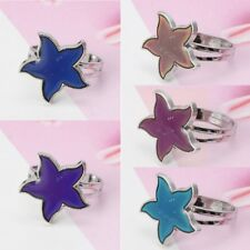 Cartoon Sea Starfish Mood Ring Temperature Emotion Feeling Rings For Women Kids