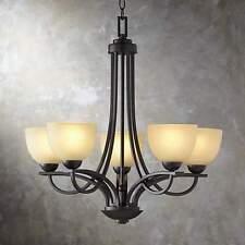 chandelier Franklin Iron Works Bennington Collection 5 Light Chandelier - Style