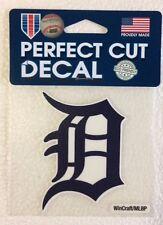 "Detroit Tigers 4"" x 4"" Logo Truck Car Auto Window Die Cut Decal New! Team Colors"