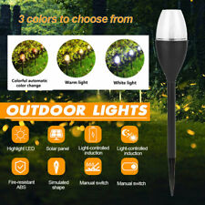Solar Powered Candle Lights Garden LED Lights  Lawn Ornament Waterproof Lamp