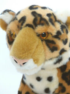 "Aurora Plush Leopard Cheetah Stuffed Animal Spotted Cat 15"" Realistic Soft Toy"