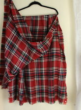NEW LOOK by M - Designer Giant Wool-Acrylic Red Tartan Plaid Blanket Shawl Scarf